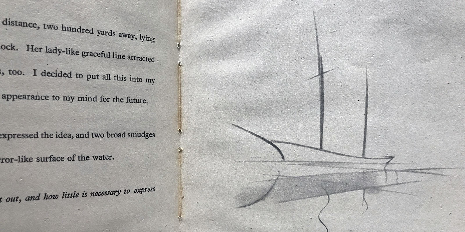 Drawing from a book 'How to Draw Sail & Sea'